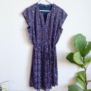 Reitmans Summer Floral Print Belted Dress Size 18